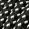 Blanco y negro y cable 3D negro blanco