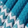 Blanco azul y cable turquesa