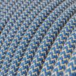 Algodón Zigzag Azul CLRD75